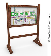 3d education wordcloud