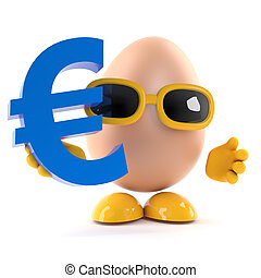 3d Egg has a Euro currency symbol