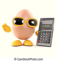 3d Egg uses a calculator