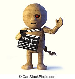 3d Egyptian mummy monster makes a movie