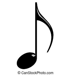 3D Eighth Note - 3d Eighth Note isolated in white