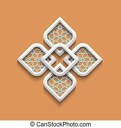 3d elegant pattern in arabic style