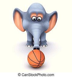 3d Elephant basketball