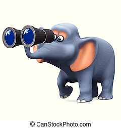 3d Elephant birdwatcher