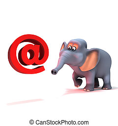 3d Elephant has an email address