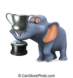 3d Elephant wins the silver trophy