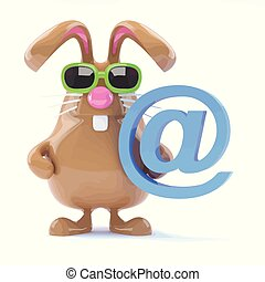 3d Email bunny