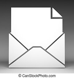 3d, email, icono