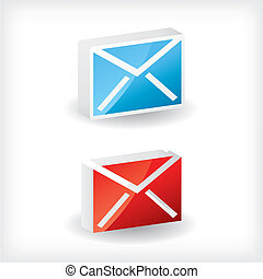 3d email icons