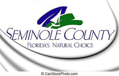 3D Emblem of Seminole County (Florida), USA. 3D Illustration.