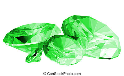 3d Emerald Gem Isolated - A 3d illustration of a emerald gem...