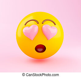 3d Emoji in Love.