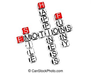 Emotions Crossword - 3D Emotions Crossword text on white...