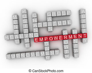 3d Empowerment word cloud concept - Illustration
