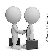 3d, empresa / negocio, saludar, gente