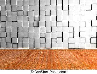 3d empty room