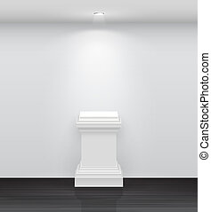 3d Empty white stand for your exhibit