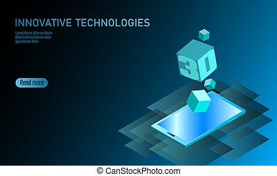 3D-enabled display smartphone concept. Stereoscopic output...