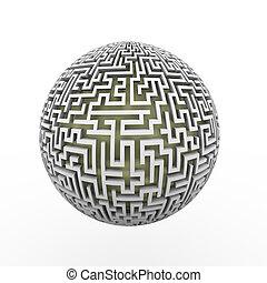 3d  endless labyrinth maze planet ball