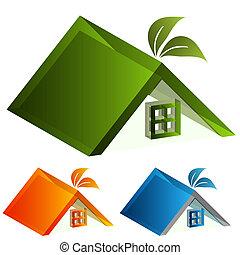3d Energy Green House - An image of a 3d energy green house ...