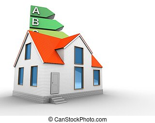 3d energy rating with house