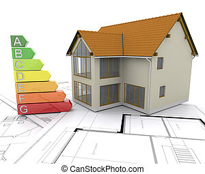 3D Energy ratings - 3D House with energy ratings