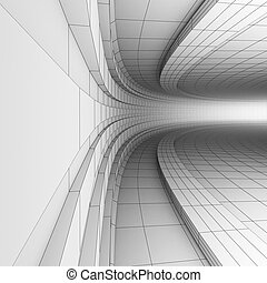 3D engineering construction - BW abstract engineering ...