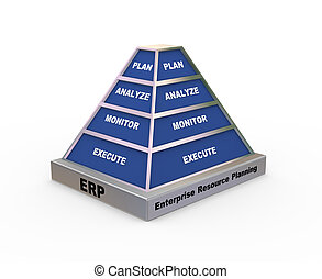 3d enterprise resource planning pyramid