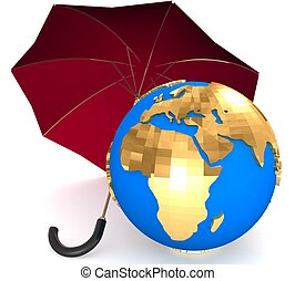 3d Environment protection concept
