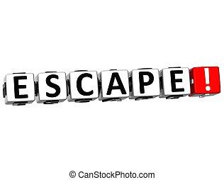 3D Escape Crossword