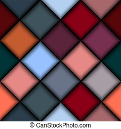 3d, estructura, de, bloques de color
