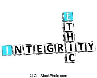 3D Ethic Integrity Crossword