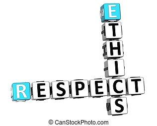 3D Ethics Respect Crossword