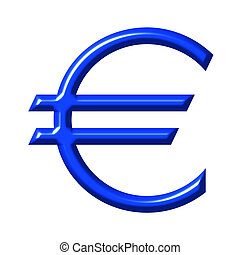 3D Euro Currency Symbol