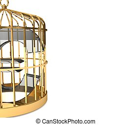 3d Euro in cage