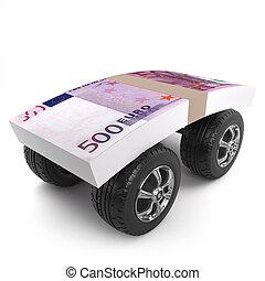 3d Euros on wheels