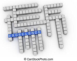 3d Excellence Concept word cloud