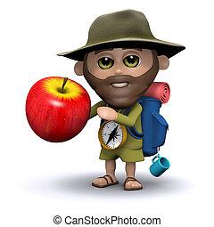 3d Explorer has an apple