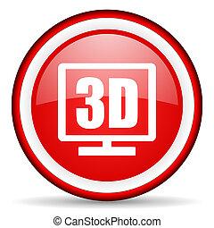 3d, exposição, teia, ícone