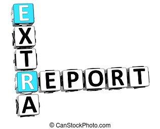 3D Extra Report Crossword