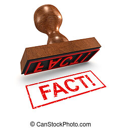 3d Fact rubber stamp - 3d render of a fact rubber stamp