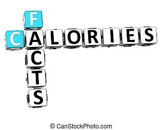 3D Facts Calories Crossword