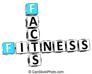 3D Facts Fitness Crossword