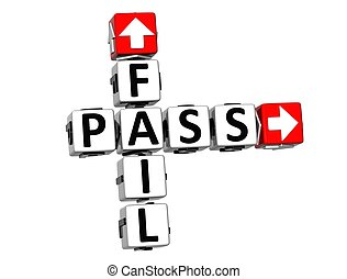3D Fail Pass Crossword