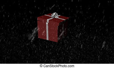 3D Falling Christmas Presents -2