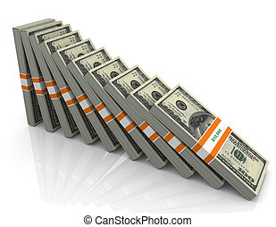 3d falling dollar
