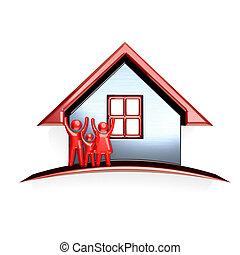 3D Family House logo