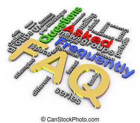 3d faq wordcloud