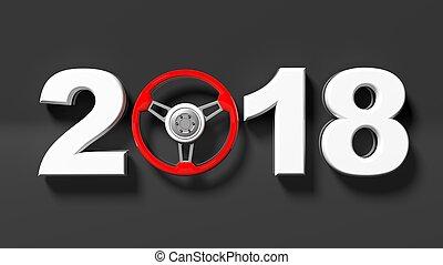 3d, fazendo, de, 2018, com, car's, volante, como, zero