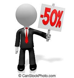 3D fifty percent off